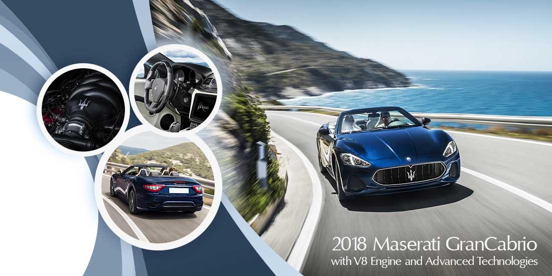 2018 Maserati GranCabrio with V8 Engine and Advanced Technologies