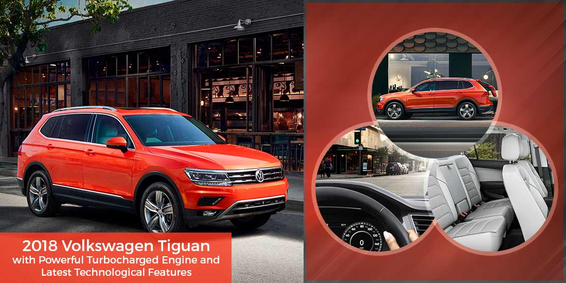 2018 Volkswagen Tiguan with Powerful Turbocharged Engine and Latest Technological Features